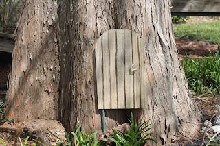 fairy door in tree