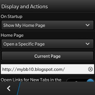 Setting Browser BlackBerry 10