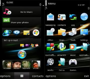 Win 7 black theme nokia symbian s60v5 | Win 7 Black theme nokia s60 v3