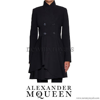 Princess Marie of Denmark Style Alexander Mcqueen Flared Coat