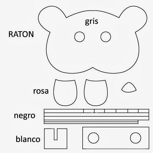 PATRON MASCARA RATON EN FIELTRO