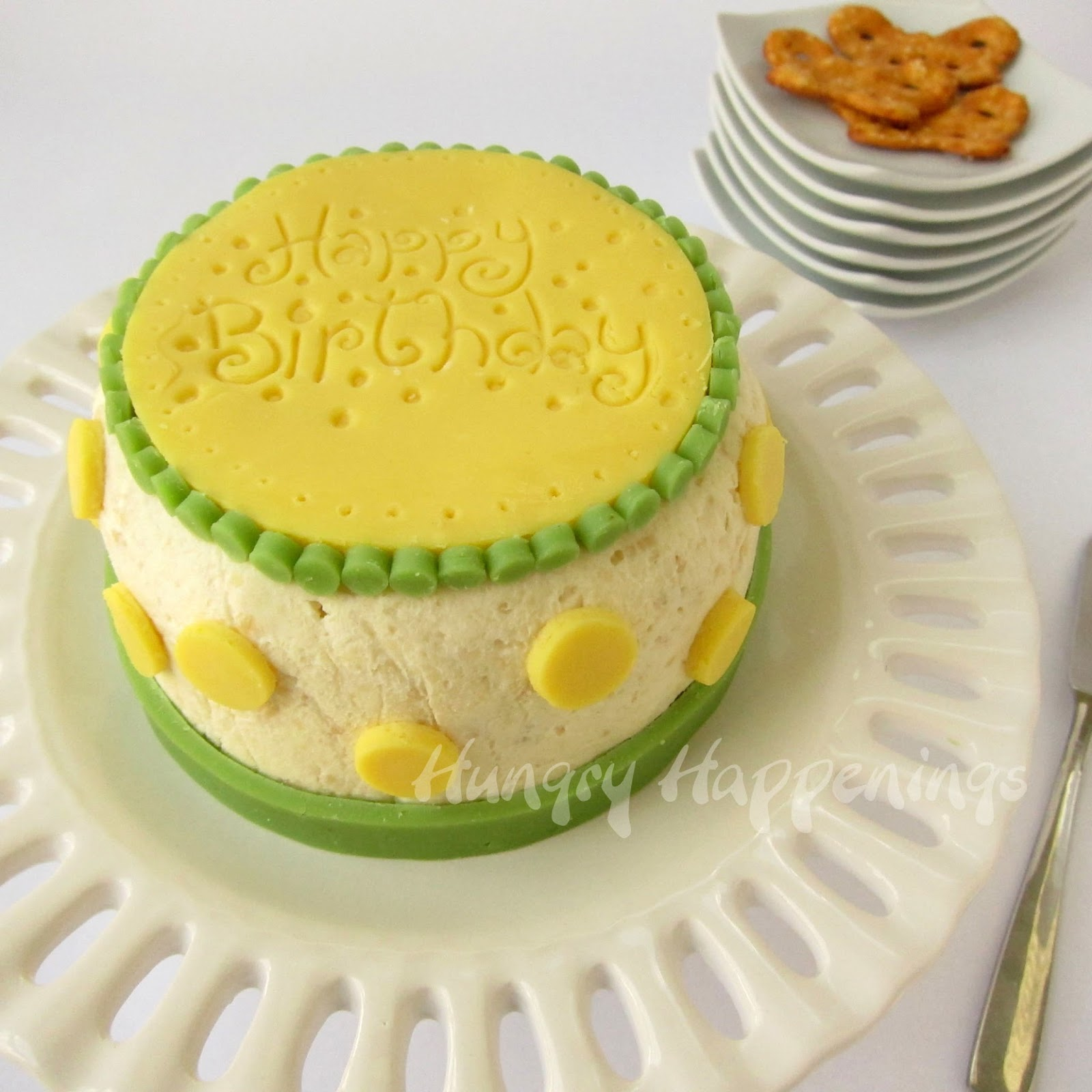 Cheese Ball Birthday Cake is a perfect appetizer for an adult party