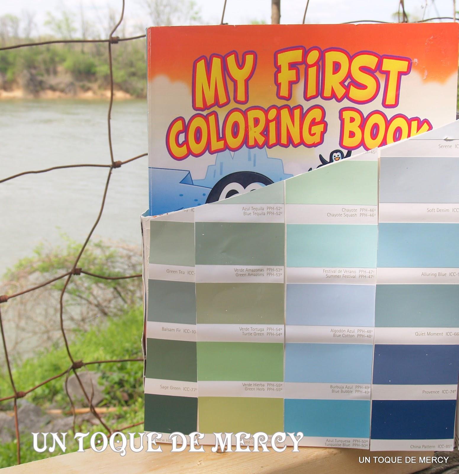 Un toque de mercy reciclar porta libro for Muestra colores pintura pared