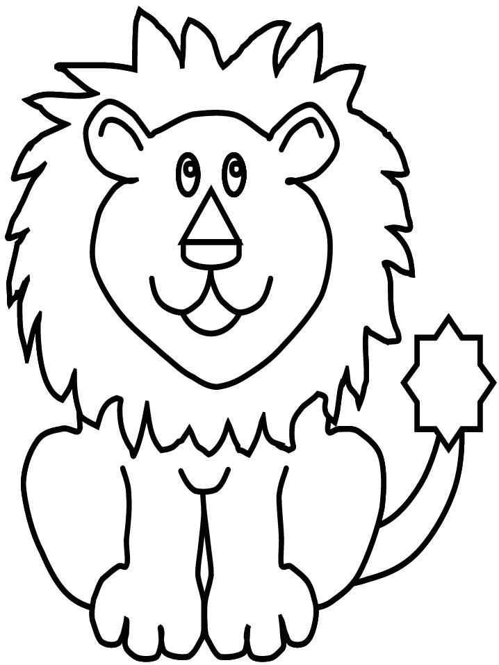 Rayito de Colores: Dibujos para colorear de Leones