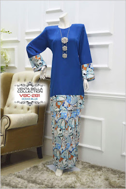 BAJU KURUNG VENTA BELLA COLLECTION - OCEAN BLUE