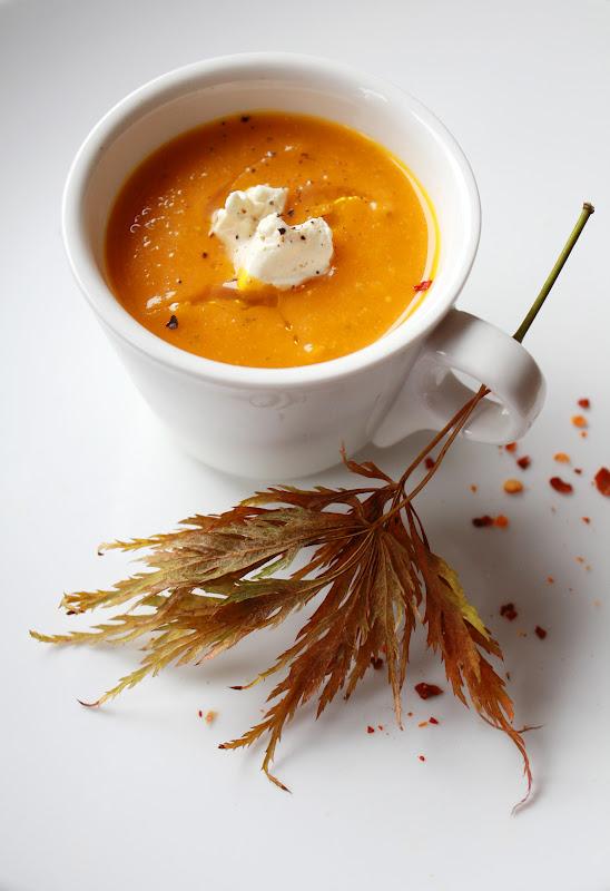 Морковный суп с мёдом и чили
