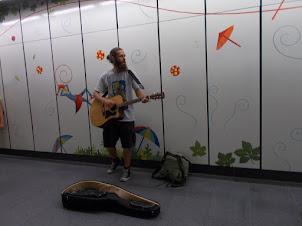 A street musician in Vienna.