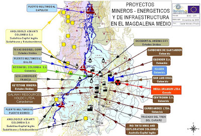 Proyectos minero-energticos de infraestructura en el Magdalena Medio