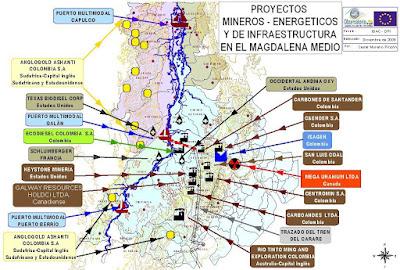 Proyectos minero-energéticos de infraestructura en el Magdalena Medio