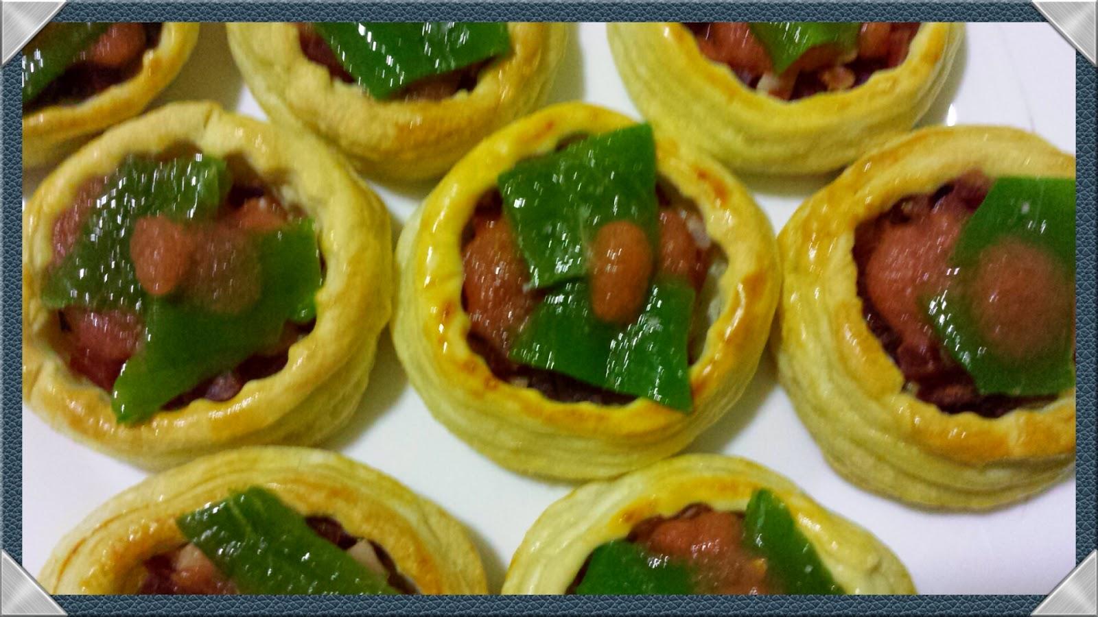 Aqu y ahora dos tipos de rellenos para volovanes - Como hacer pimientos verdes fritos ...