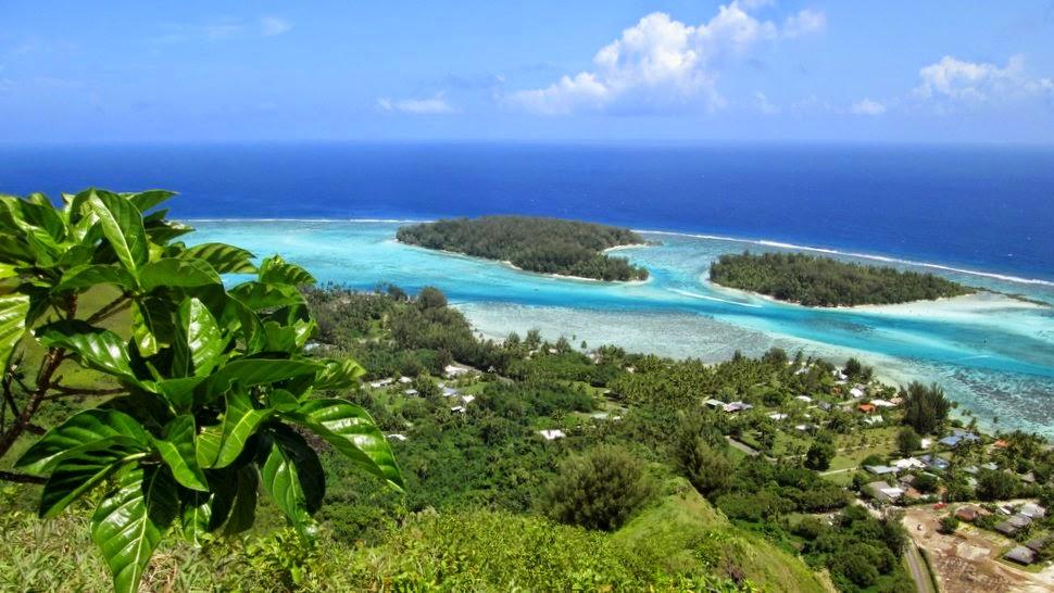 Motu Tiahura et Motu Fareone à Hauru Moorea Polynésie
