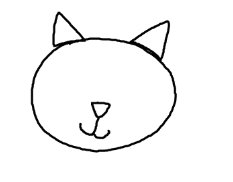 Easy drawing lessons for preschool kindergarten how to draw a 4looking good so far we continue to draw the cats eyes the eye is just look like an ellipse so what you have to do is to draw ellipses just above the ccuart Choice Image