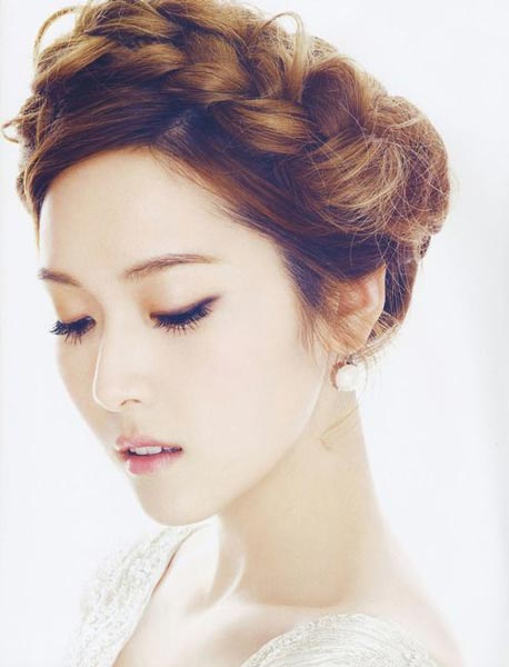 Jessica Jung braided hairstyle