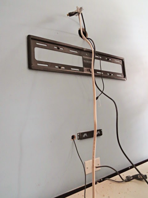 How To Hide Your Television And Cable Wires An Easy Diy Flipping The Flip