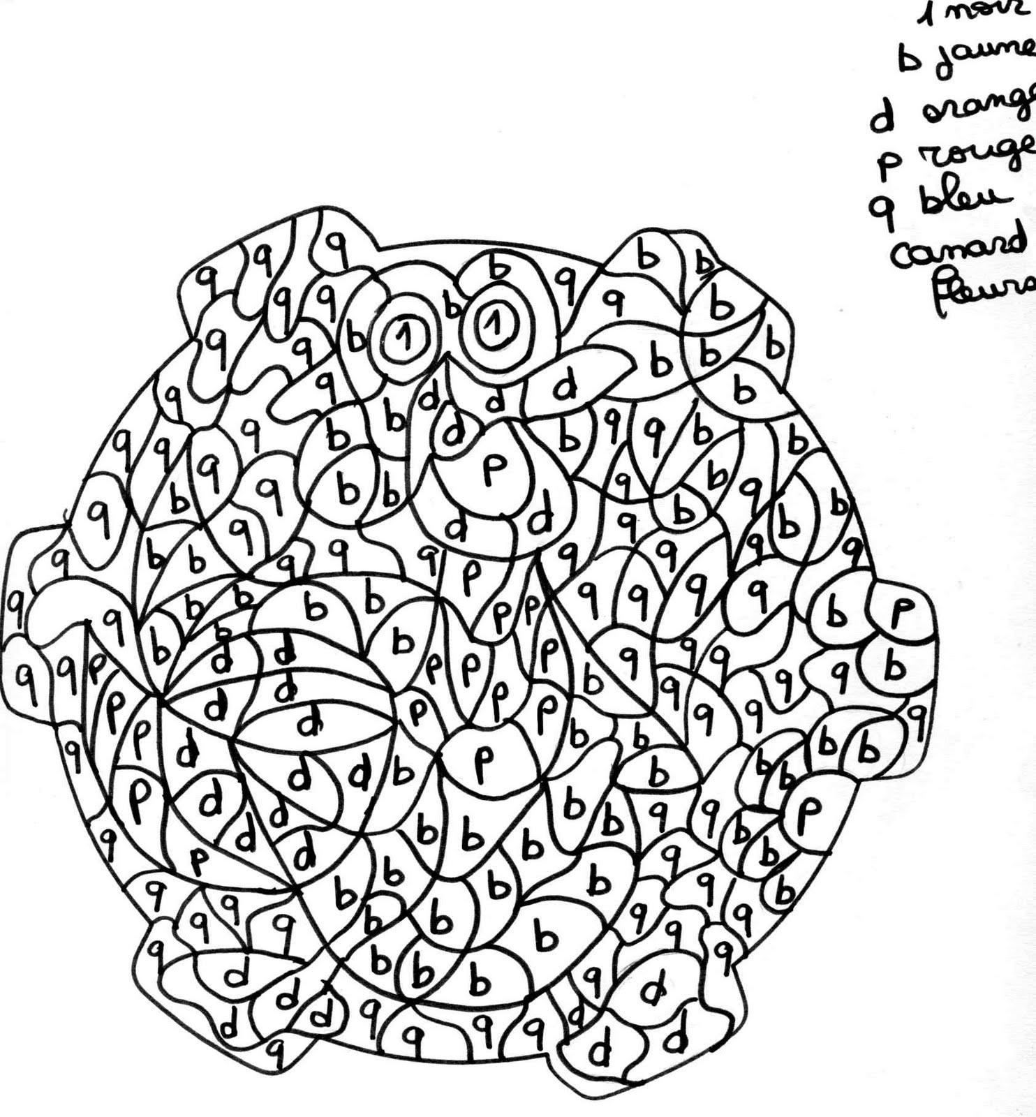 CODÉ MATERNELLE : Coloriage Codé Maternelle en Ligne  - coloriage magique maternelle