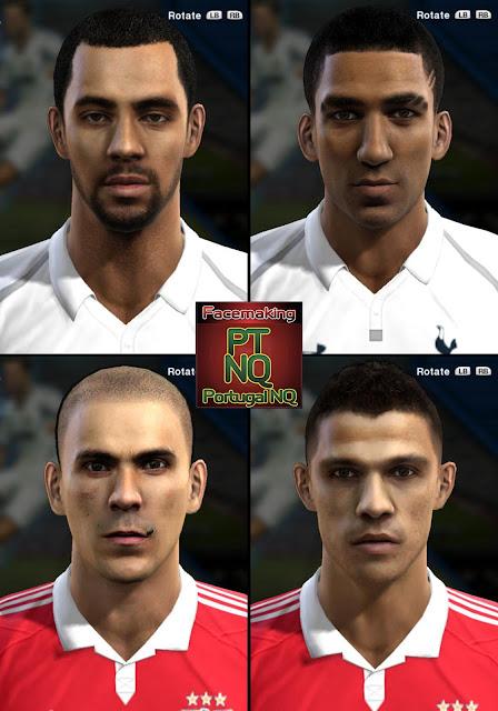 Moussa Dembélé, Aaron Lennon, Maxi Pereira e Lima Faces - PES 2013