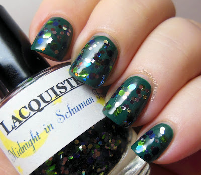 Lacquistry Midnight in Schuman Forest swatch