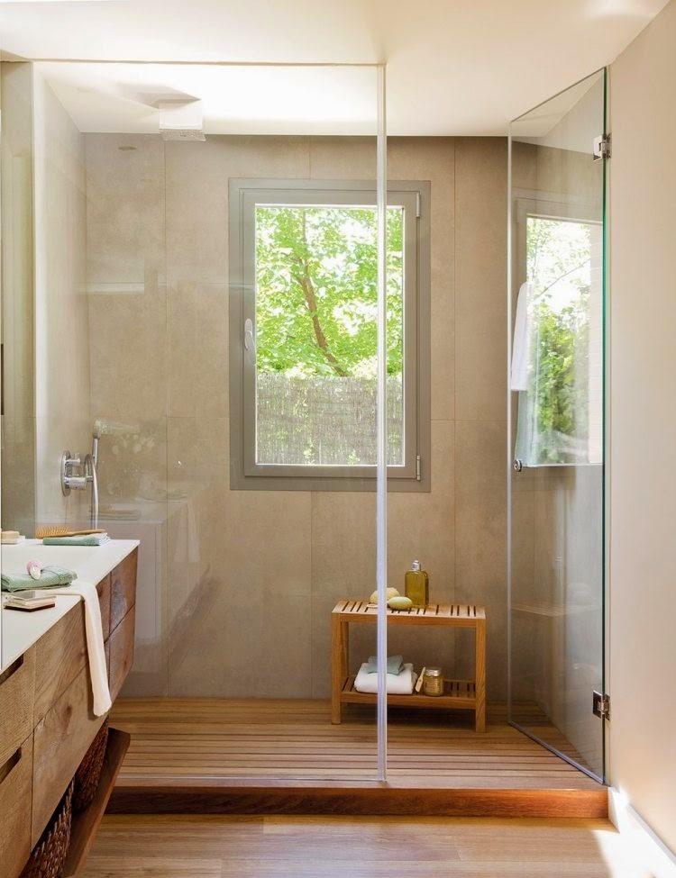 Ba os modernos con ducha de cristal colores en casa for Banos pequenos con ducha modernos y elegante