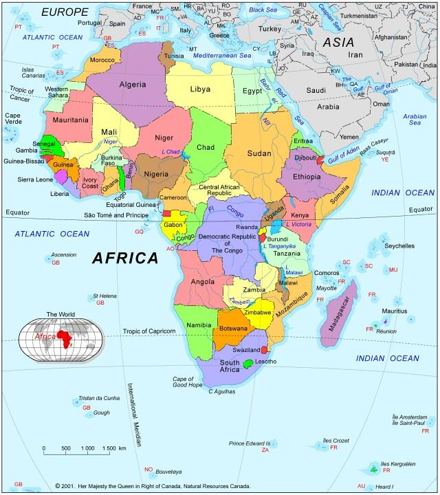 Afrique carte monde avec pays carte du monde avec pays - Carte du monde geante a acheter ...