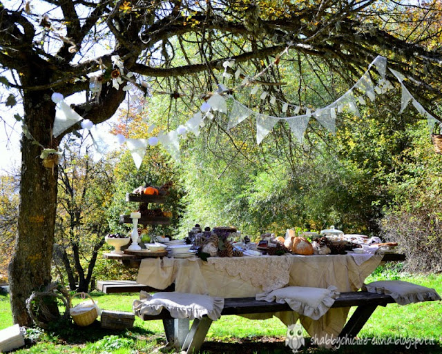 Pic nic d'autunno Shabby Chic