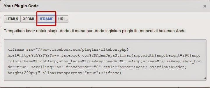 Cara Memasang Widget Facebook Like Box diblog