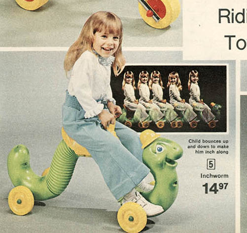 Inchworm Toy 1970s 1970s Inchworm Riding Toy Then