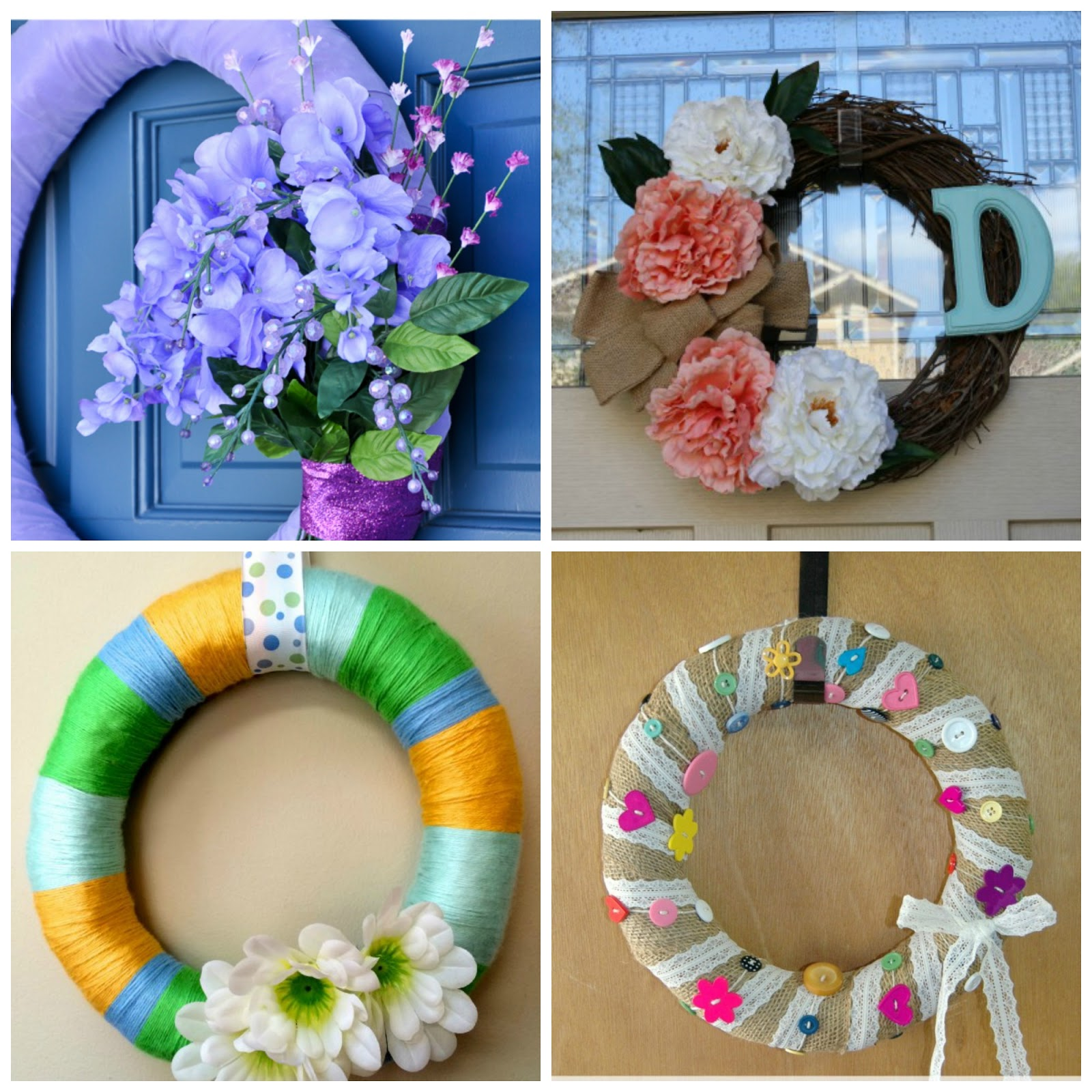 Four Spring Wreath Ideas