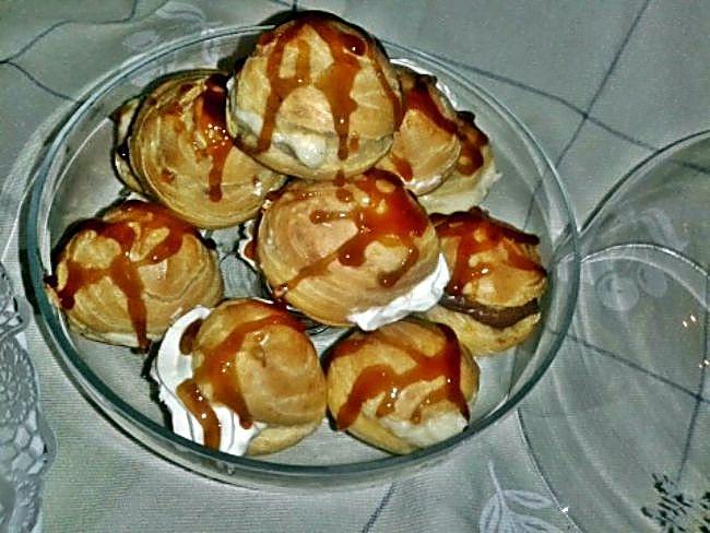 Buñuelos con caramelo