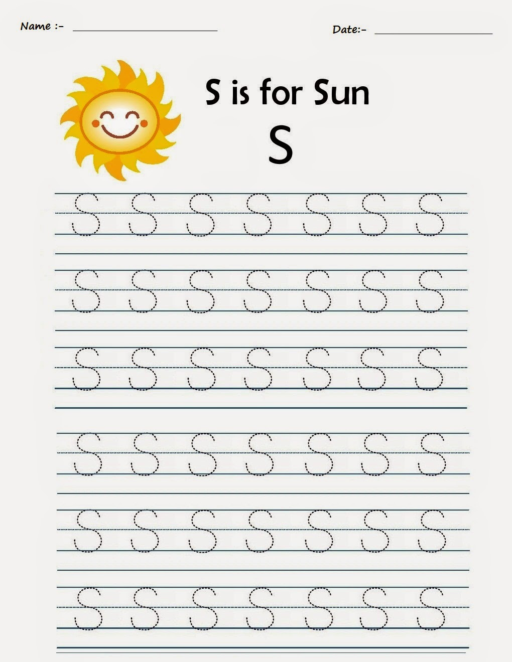 Kindergarten Worksheets Printable Tracing Worksheets Alphabet S