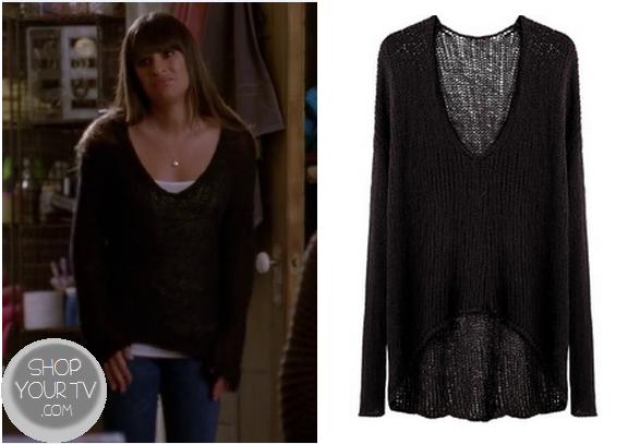 Shop Your TV: Glee: Season 4 Episode 15 Rachel's Black Loose Knit ...