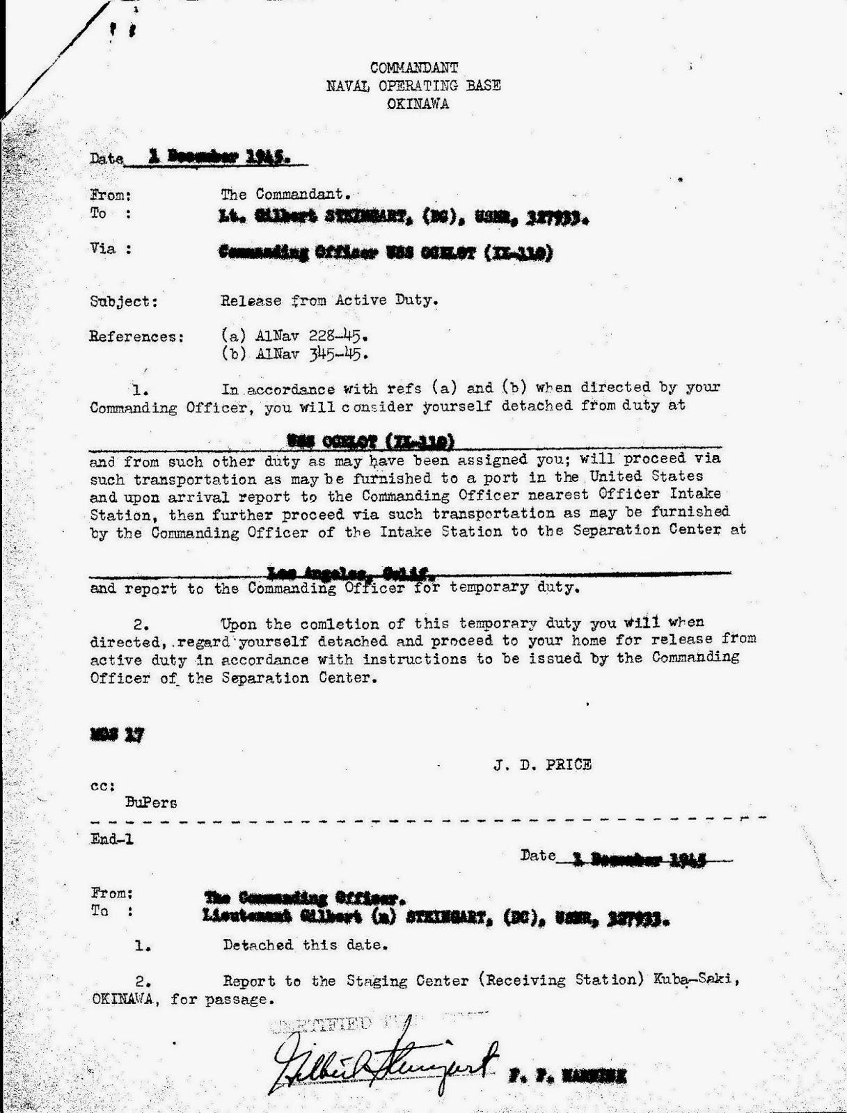 Dearest Eleanor World War II Letters November 2014
