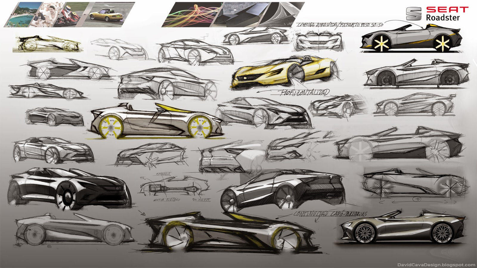 Seat Roadster Design Study For A Spanish Mazda Mx 5