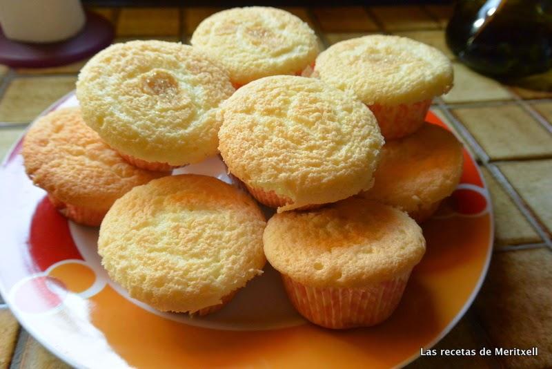 Magdalenas de naranja sin gluten y sin lactosa