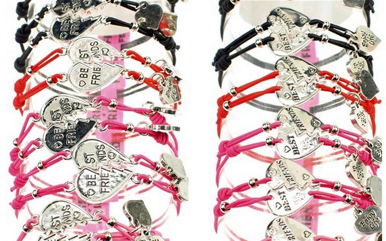Bff armbandje verkrijgbaar in 4 kleuren set van 2 stuks voor 5