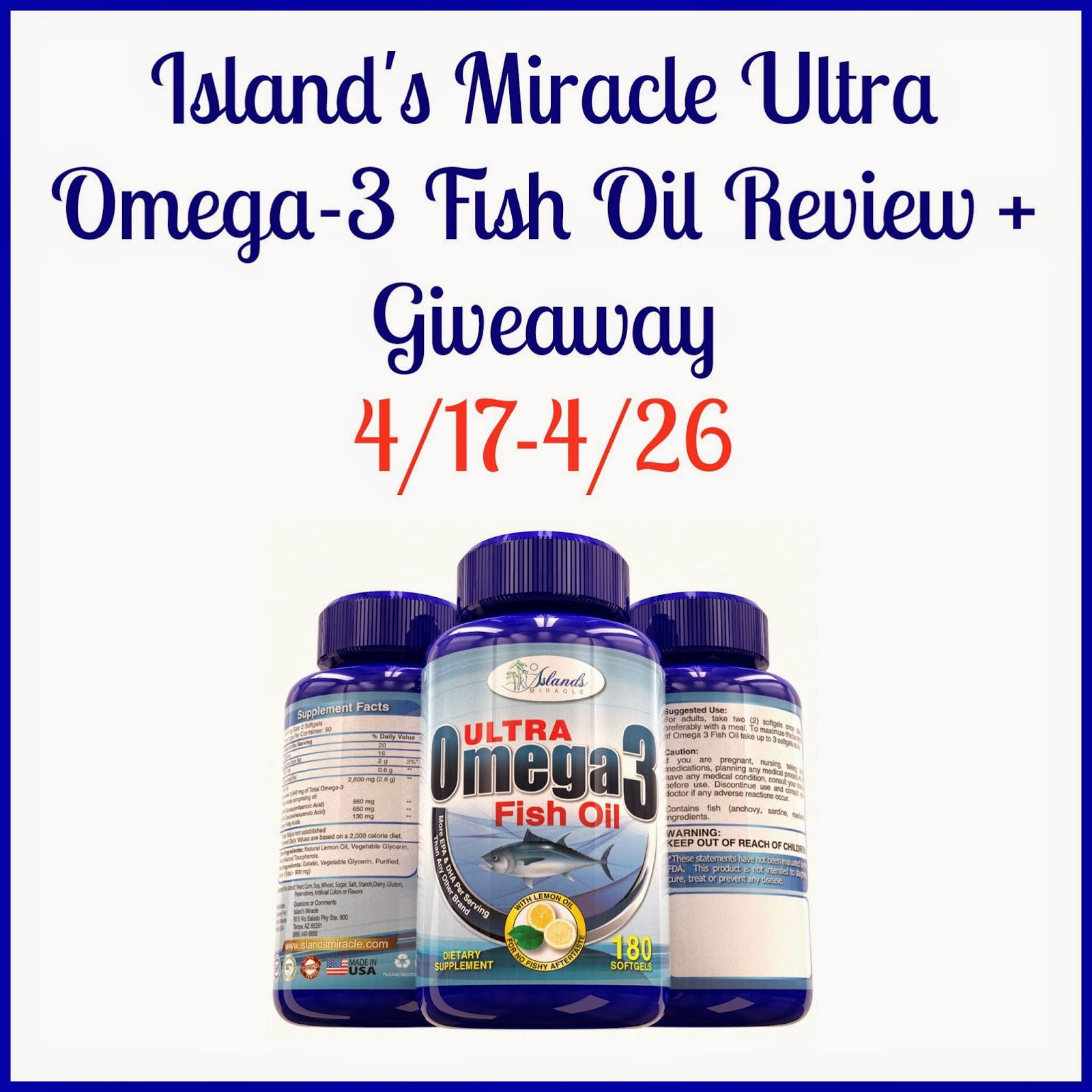 Here we go again ready island 39 s miracle ultra omega 3 for Fish oil ratings