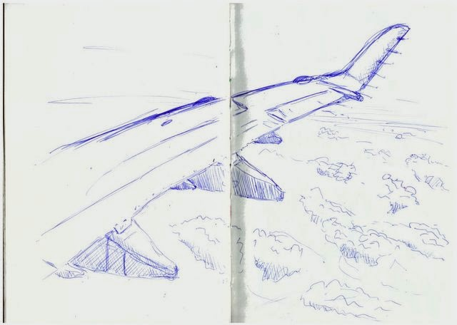 Aeroplane wing in biro