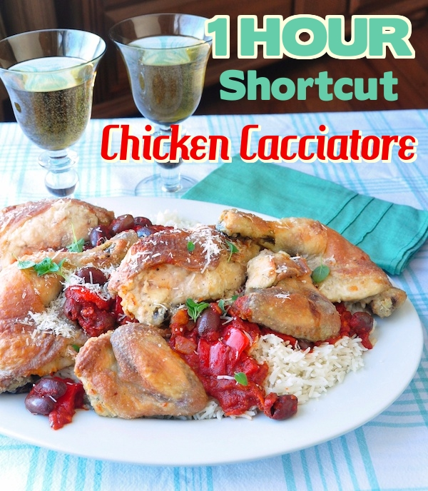 One Hour Shortcut Chicken Cacciatore