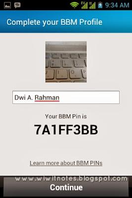 Profile BBM di Android