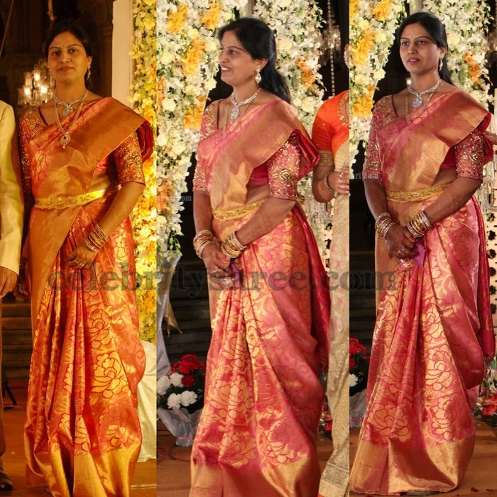 Kanjivaram Saree in Rose Floral Design