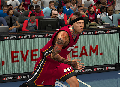 NBA2K Heat Chris Andersen Face Patch 2K13