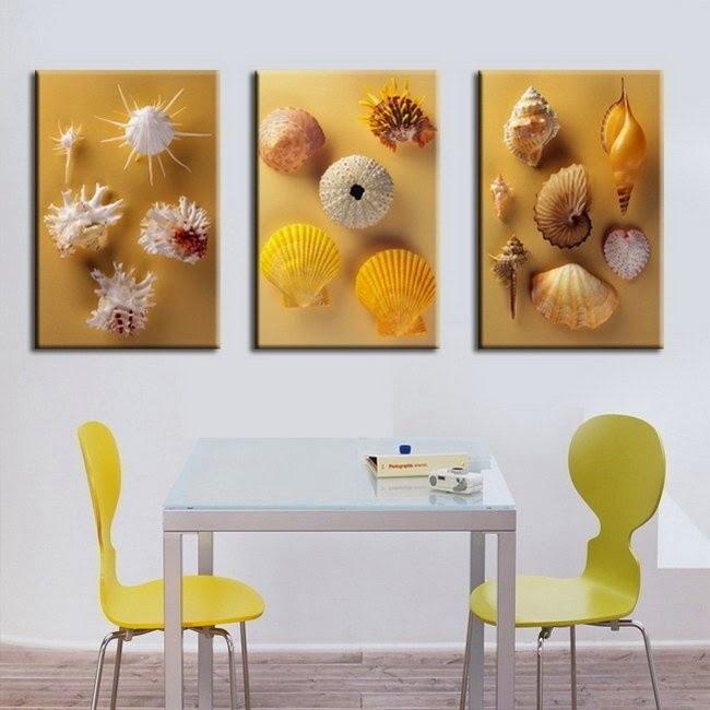 Seashell craft wall hanging decoration ideas art craft - Craft ideas for wall hangings ...