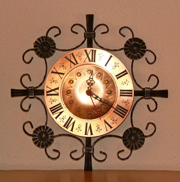 El merkadillo vintage reloj de pared vintage de hierro - Reloj de pared vintage ...