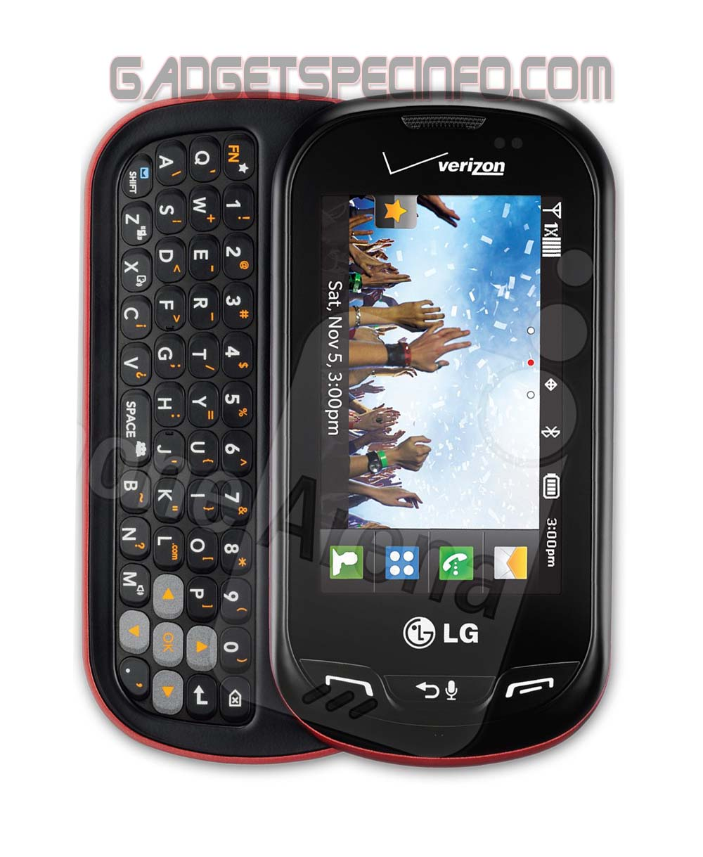 New LG Extrovert QWERTY Slider Smartphone Go Green