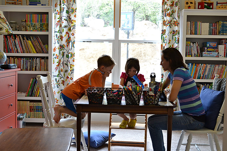 Home School Furniture 6 mistakes when creating a homeschool space blissfully domestic So We Got Out For First Day Of School Pictures In The Driveway After School Was Over And It Wasnt Raining