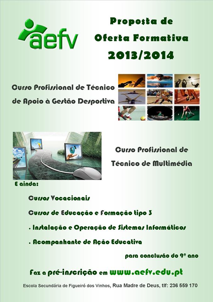 Cursos técnico profissionais e CEF em Figueiró dos Vinhos