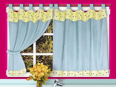 Cortinas con mucho color para la cocina decoracion de - Ver cortinas para cocina ...