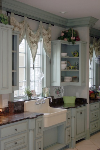 Blue Cottage Style Kitchen
