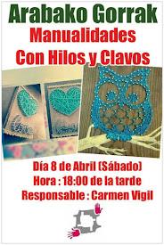 MANUALIDADES CON HILOS Y CLAVOS // 8 ABRIL (SÁBADO)
