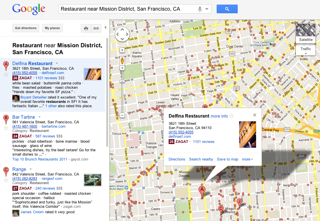 how to search on google maps
