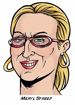 Meryl Streep By Sophie Cossette